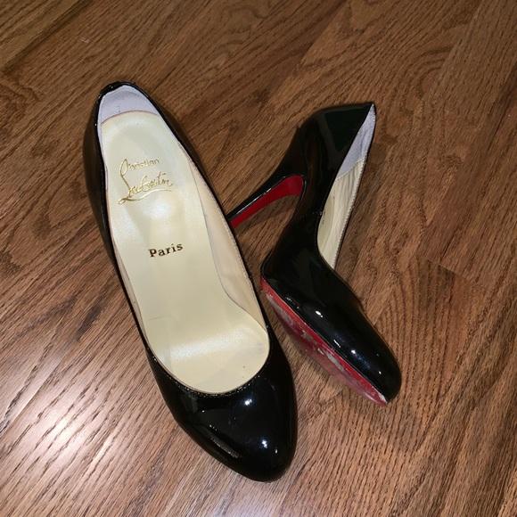 4bad8227504e Christian Louboutin Shoes - Christian Louboutin 39 round toe black patent  heel